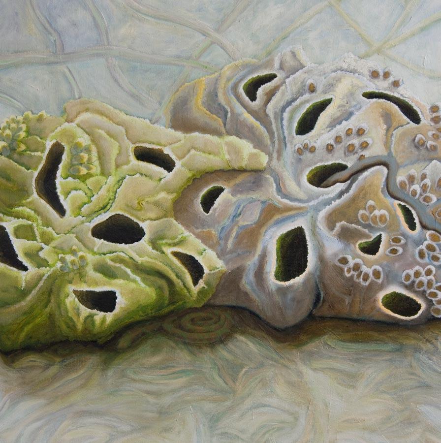 Marianne Dijkstra, 2012, Secret holes, 110x90 cm, olie op doek