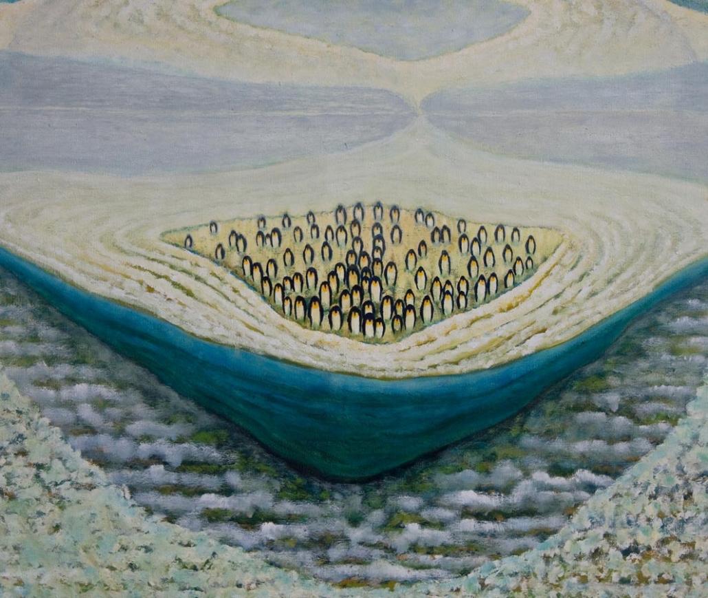 Marianne Dijkstra, 2012, Never been here, 120x90 cm, olie op doek