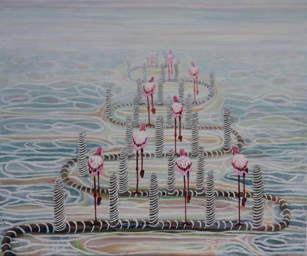 Marianne Dijkstra, 2013, It's coming soon, 60x50 cm, olie op doek