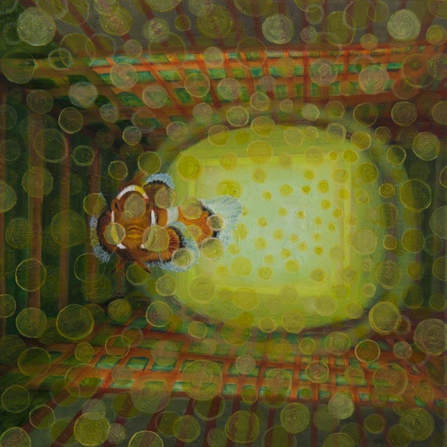 Marianne Dijkstra, 2013, Lightness, 50x50 cm, olie op doek