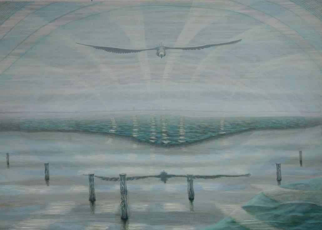 Marianne Dijkstra, 2013, Still waters, 140x110 cm, olie op doek