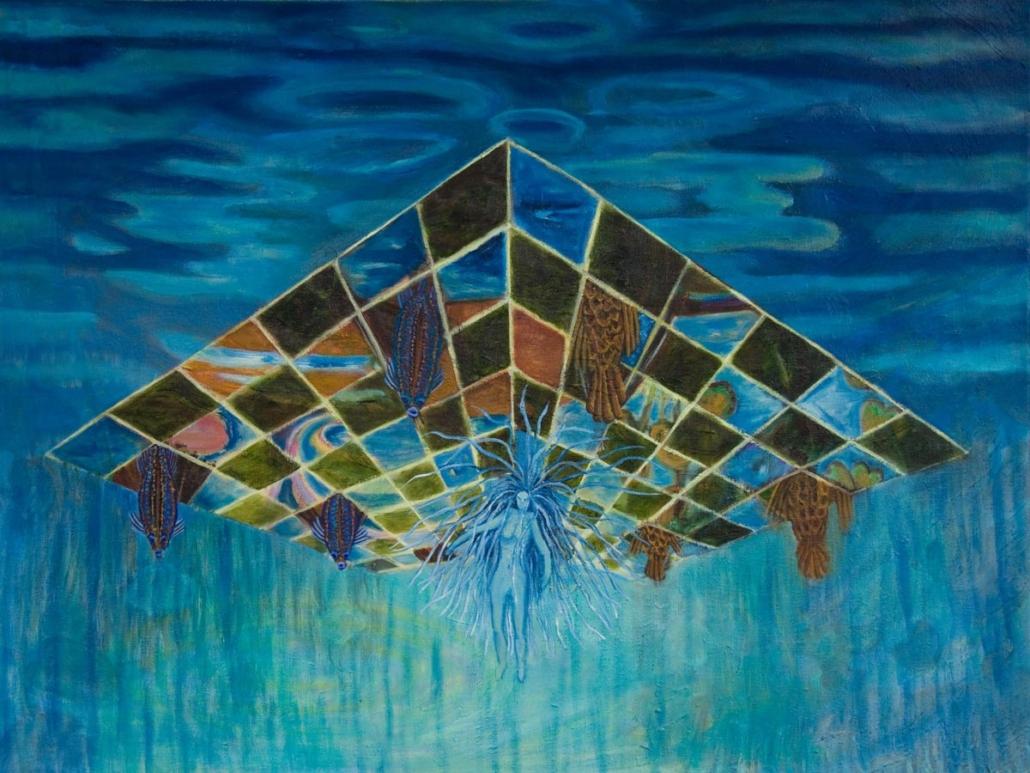 Marianne Dijkstra, 2014, And al the other worlds, 120x90 cm, olie op doek