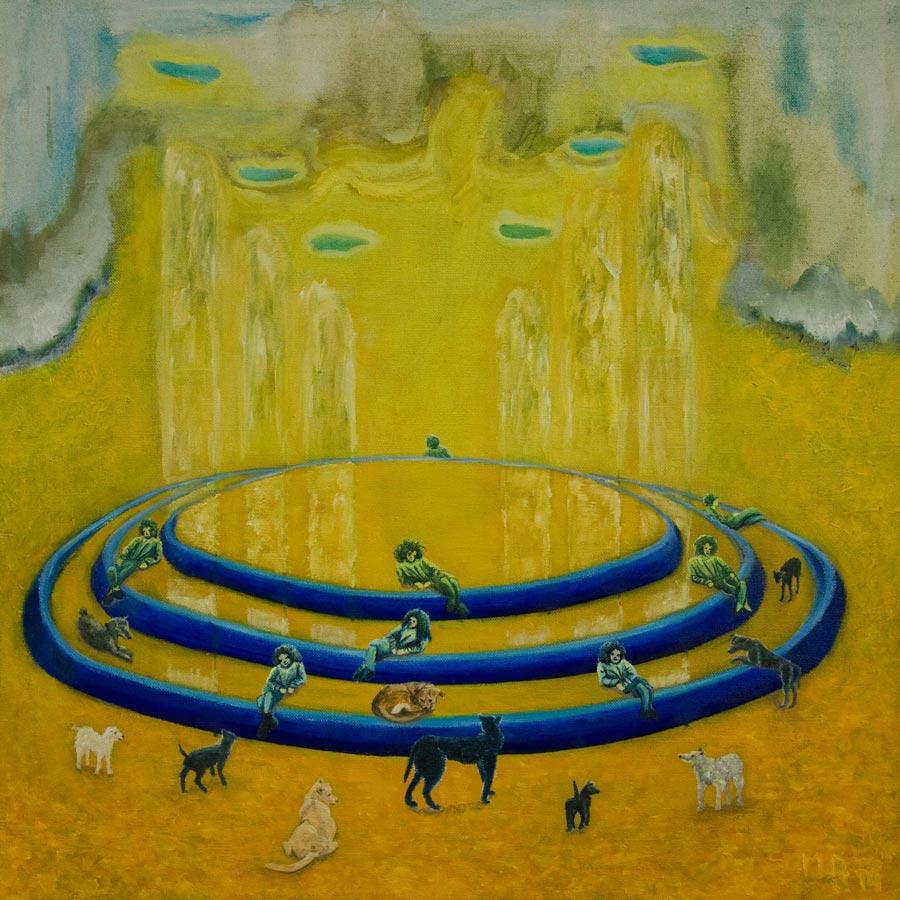 Marianne Dijkstra, 2014, Dreamtime, 80x80 cm, olie op doek