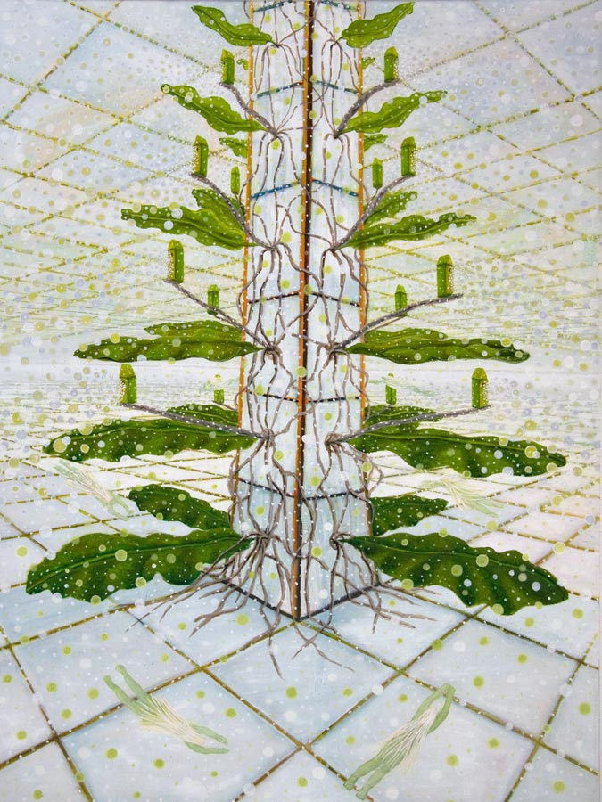 Marianne Dijkstra, 2014, Greenhouses, 105x140 cm, olie op doek