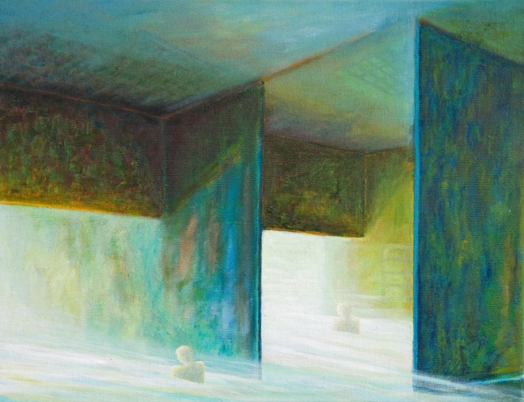 Marianne Dijkstra, 2014, Open room 1, 65x50 cm, olie op doek