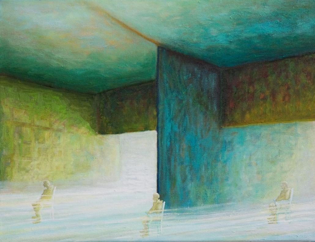 Marianne Dijkstra, 2014, Open room 2, 65x50 cm, olie op doek