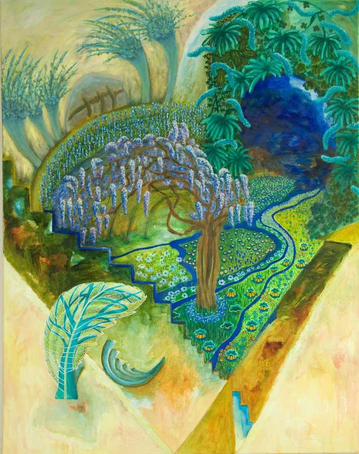 Marianne Dijkstra, 2016, Nature's abundance, 110x140 cm, olie op doek