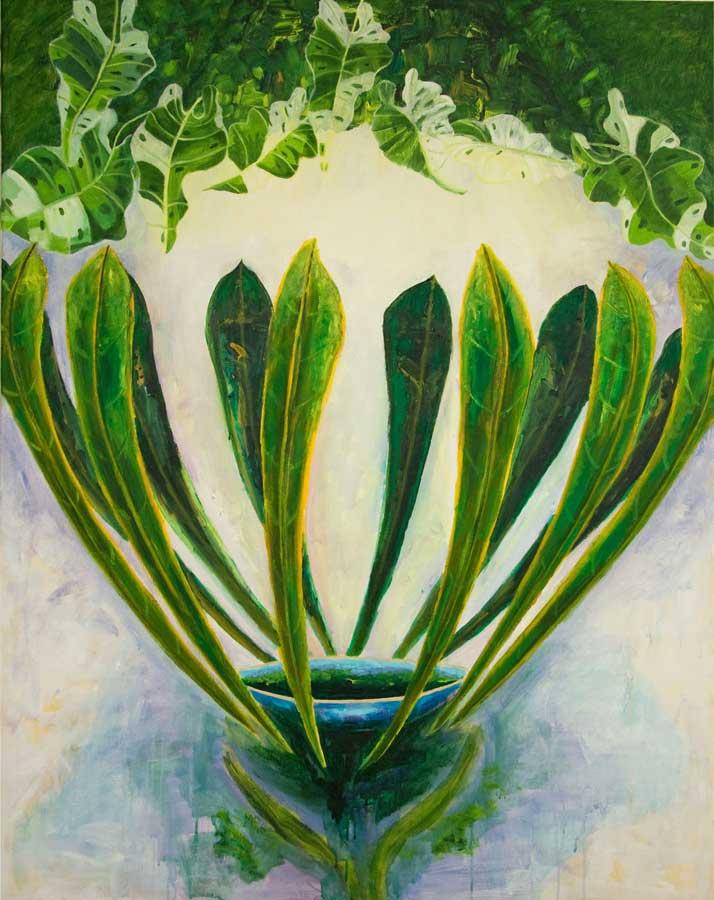 Marianne Dijkstra, 2016, The perfect gesture, 110x140 cm, olie op doek