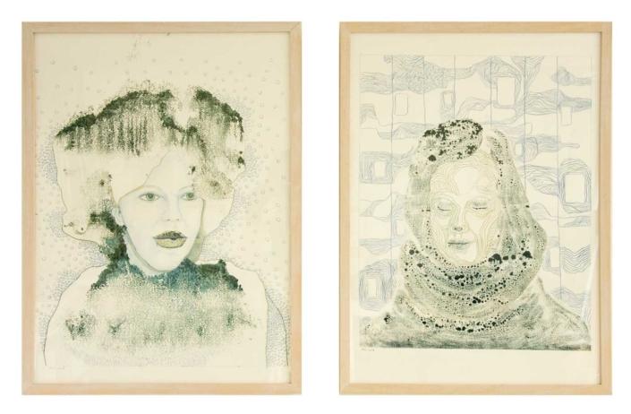 Marianne Dijkstra, 2016, portret, 50x60 en 50x60 cm, gemengde techniek