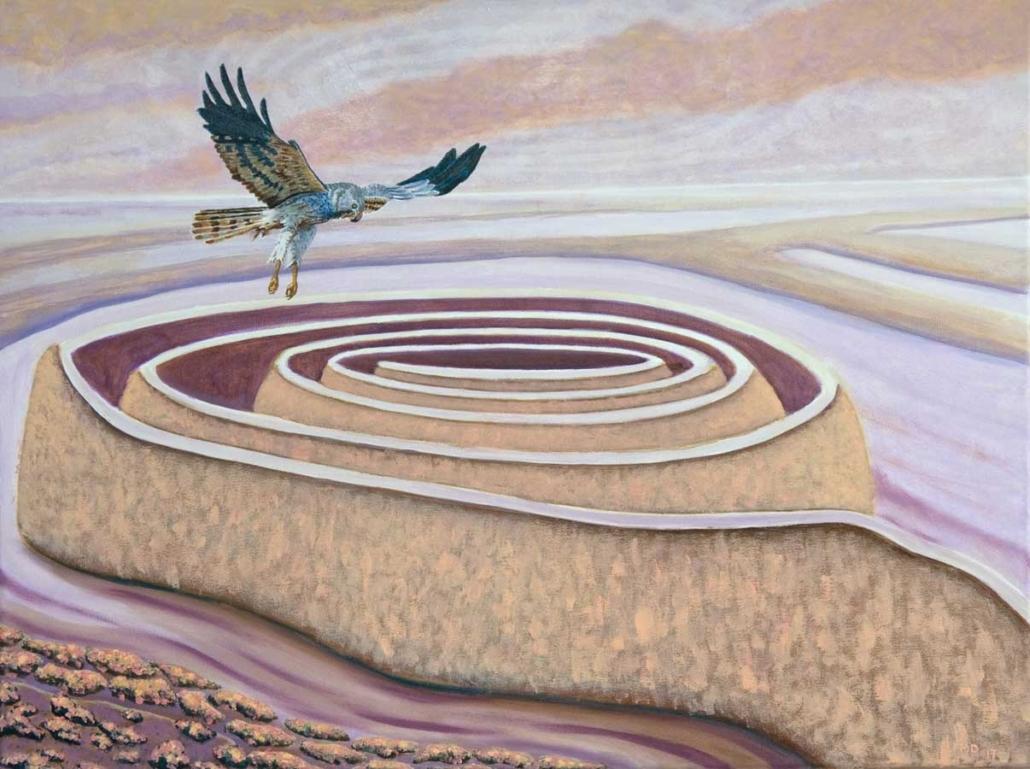 Marianne Dijkstra, 2017, Ever changing land, 80x60 cm, olie op doek