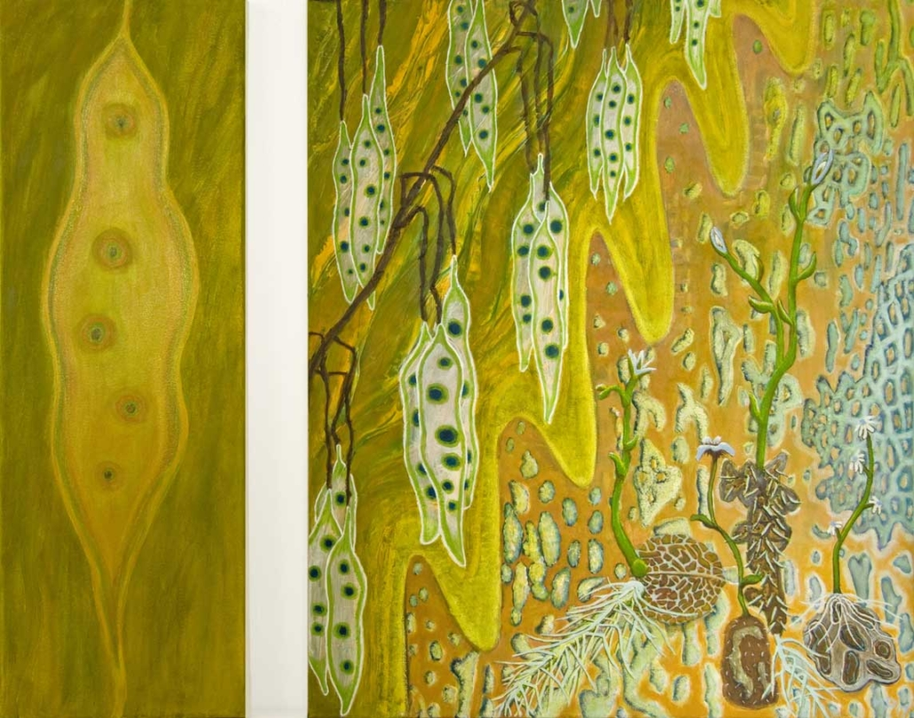 Marianne Dijkstra, 2017, Fragile, 20x60 en 50x60 cm, olie op doek