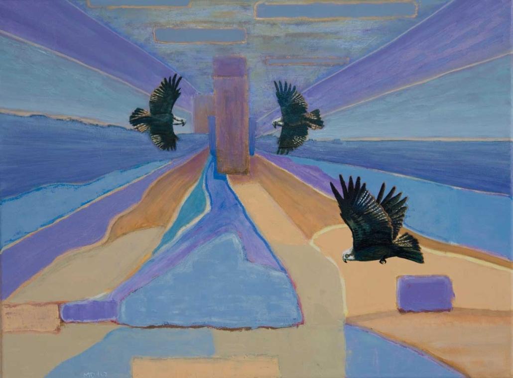 Marianne Dijkstra, 2017, In a floating state, 80x60 cm, olie op doek