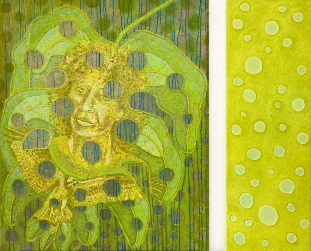 Marianne Dijkstra, 2017, Missing pieces, 50x60 en 20x60 cm, olie op doek
