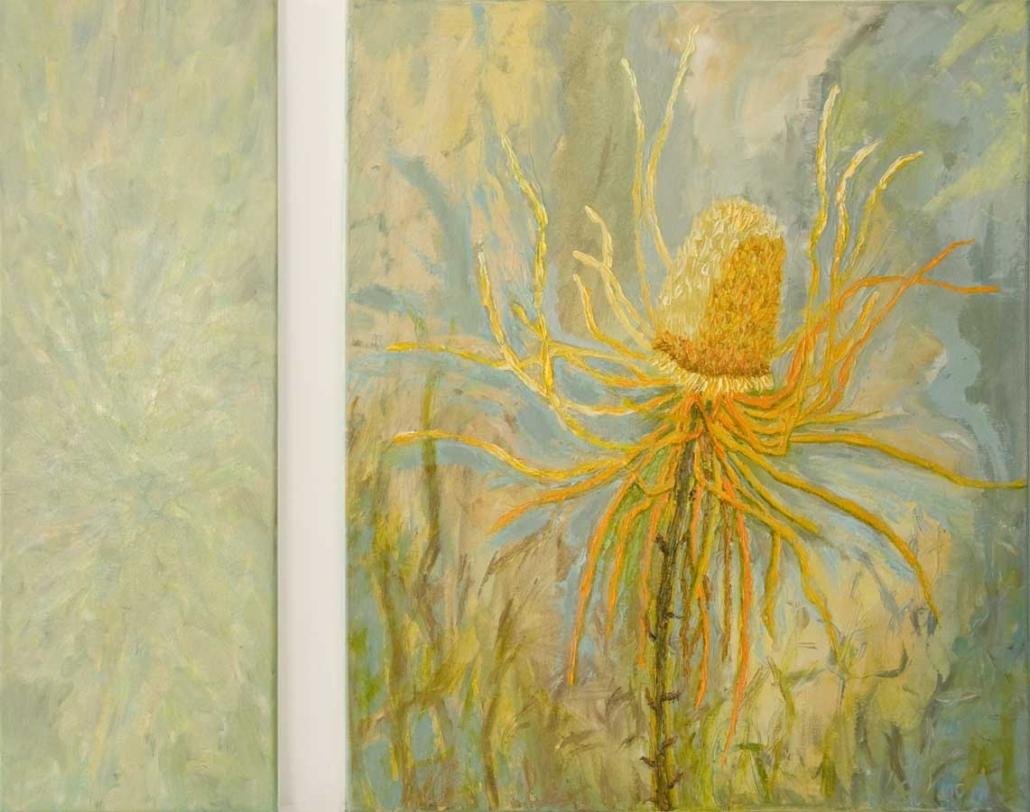 Marianne Dijkstra, 2017, Rhrythm in the sky, 20x60 en 50x60 cm, olie op doek