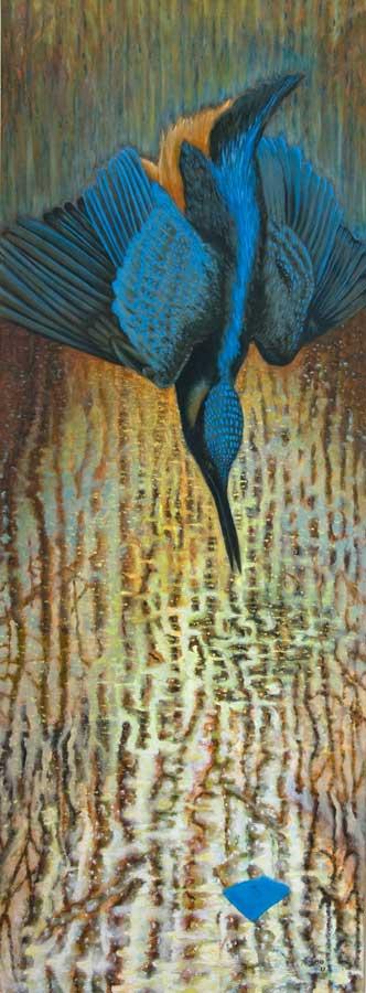 Marianne Dijkstra, 2017, Waterlover 60x160 cm, olie op doek
