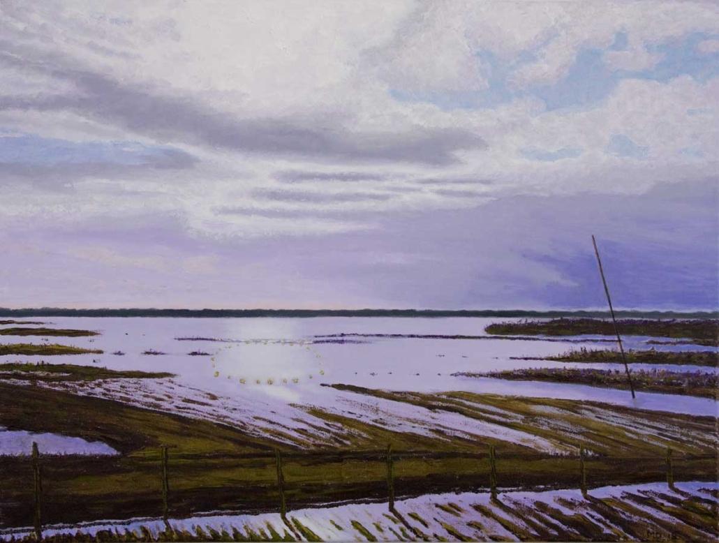 Marianne Dijkstra, 2018, Hidden land, 80x60 cm, olie op doek