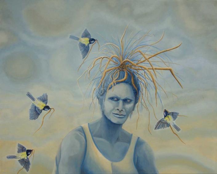 Marianne Dijkstra, 2019, I see you, 100x80 cm, olie op doek