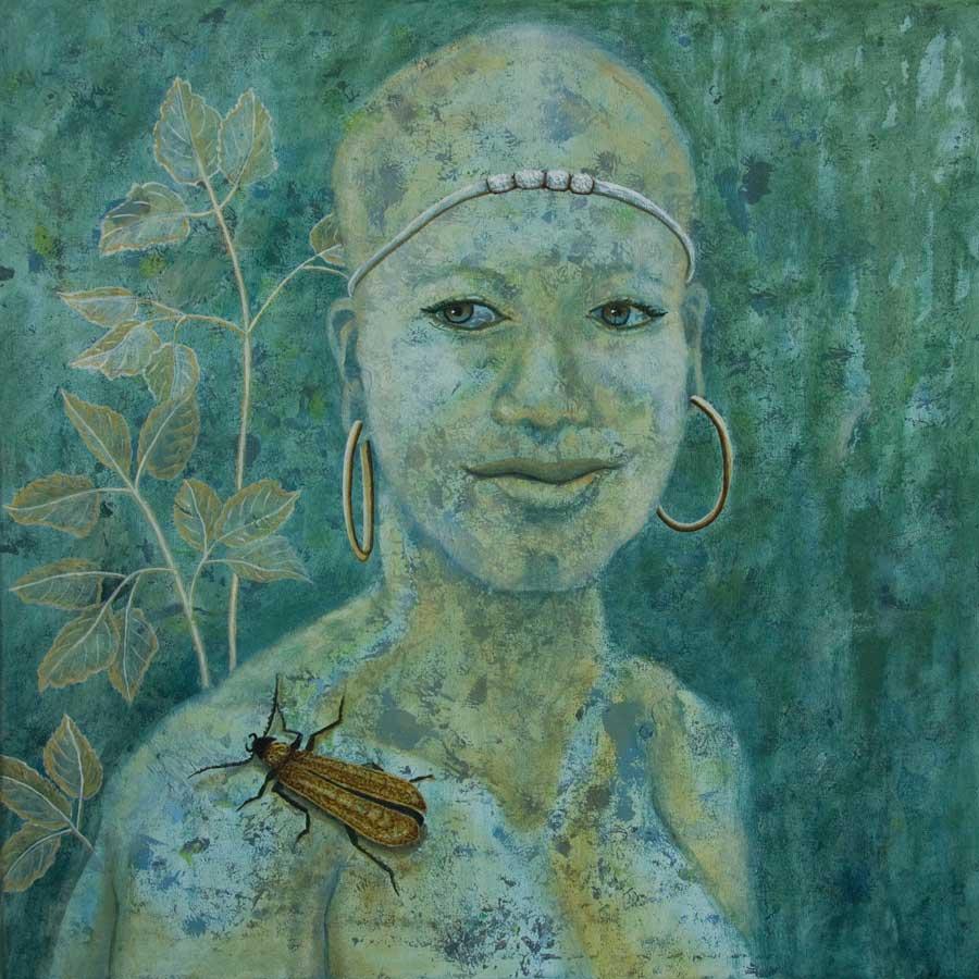Marianne Dijkstra, 2019, Universal women 1, 50x50 cm, olie op doek