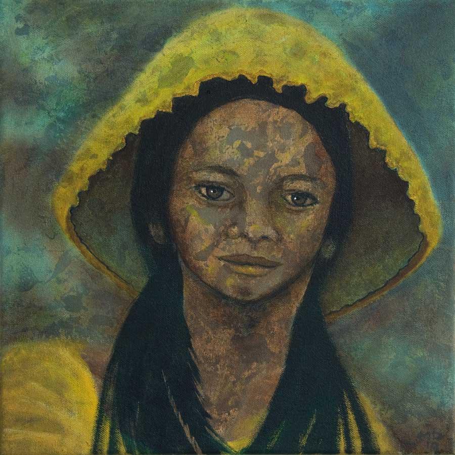 Marianne Dijkstra, 2019, Universal women 13, 30x30 cm, olie op doek