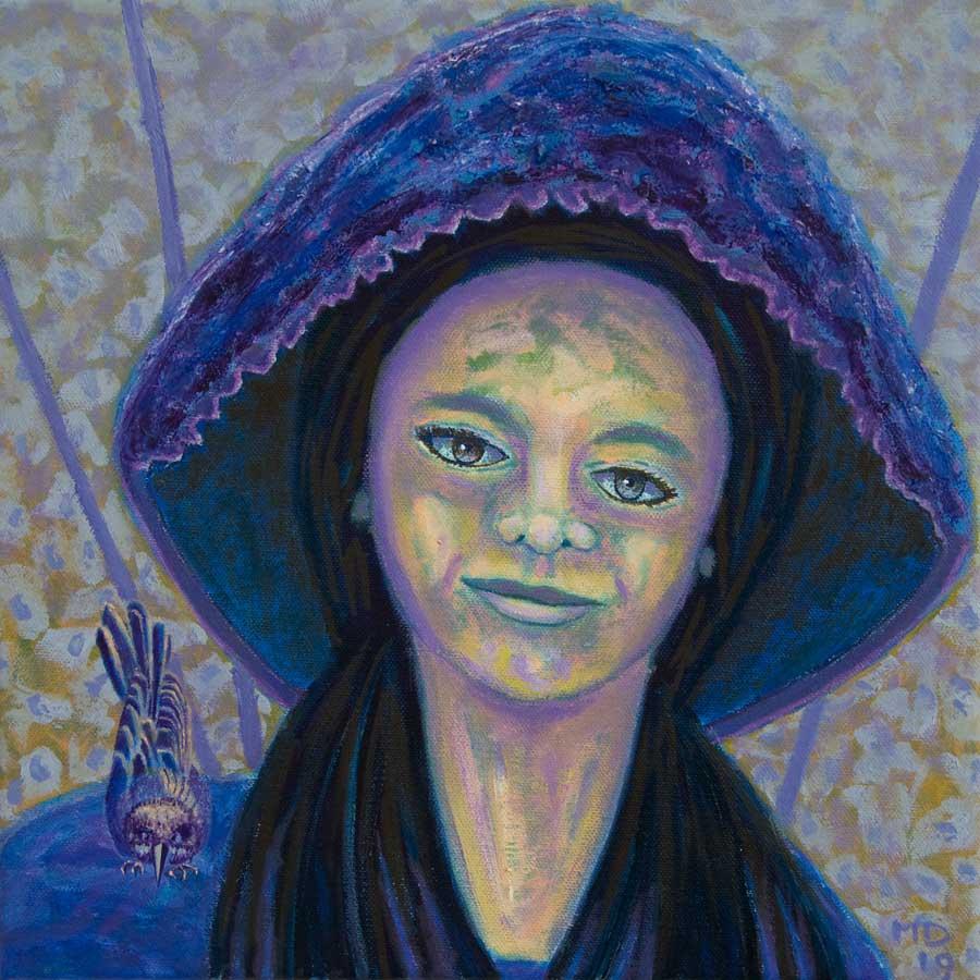Marianne Dijkstra, 2019, Universal women 14, 30x30 cm, olie op doek