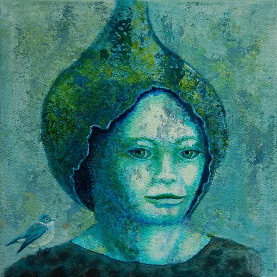 Marianne Dijkstra, 2019, Universal women 16, 30x30 cm, olie op doek