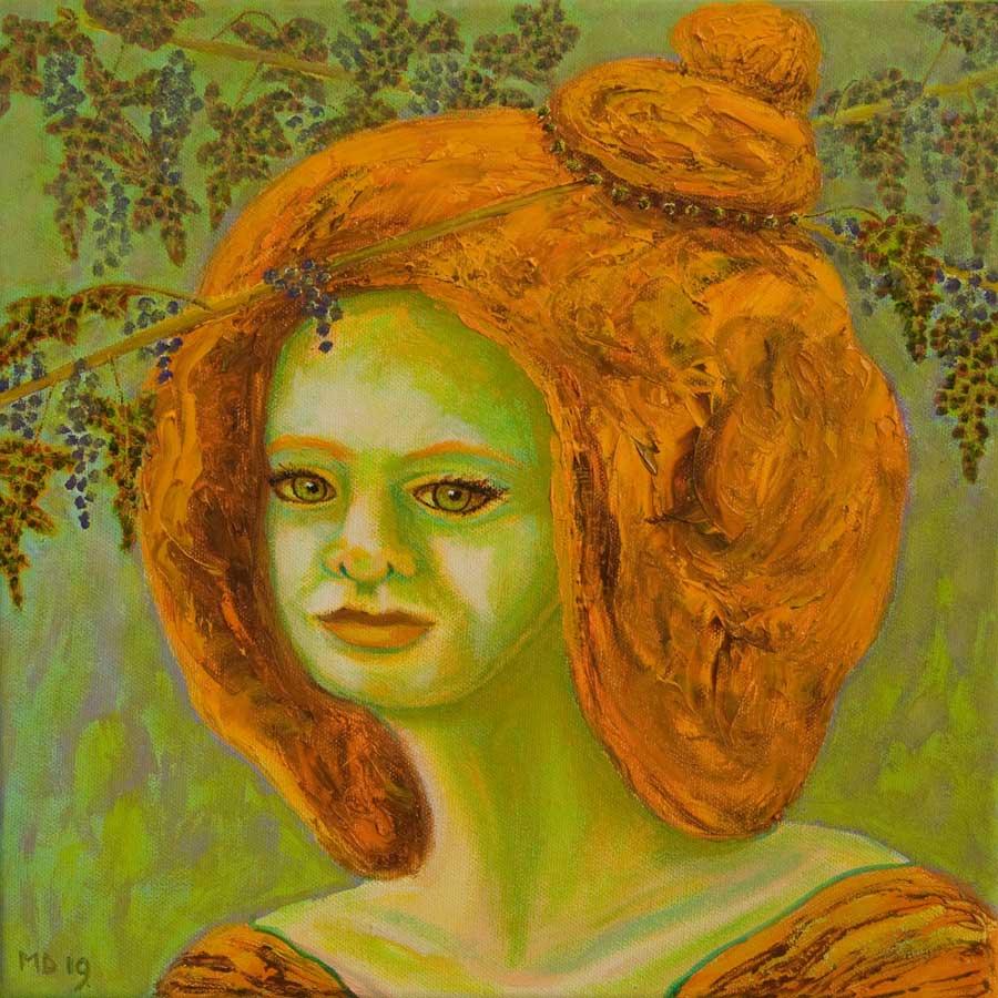 Marianne Dijkstra, 2019, Universal women 19, 30x30 cm, olie op doek