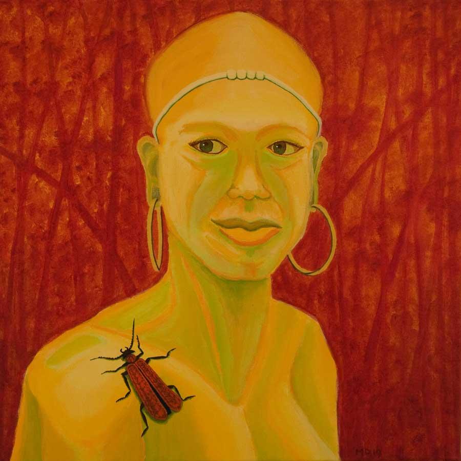 Marianne Dijkstra, 2019, Universal women 2, 50x50 cm, olie op doek