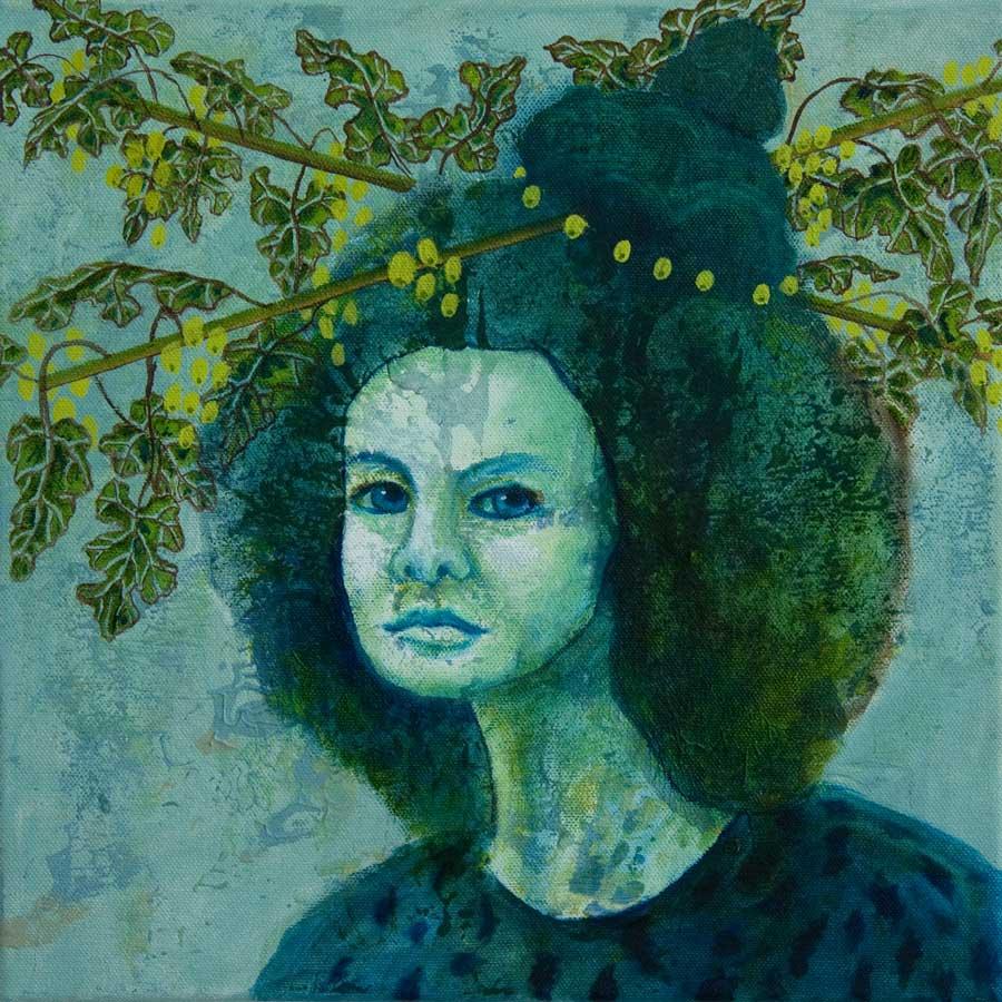Marianne Dijkstra, 2019, Universal women 20, 30x30 cm, olie op doek