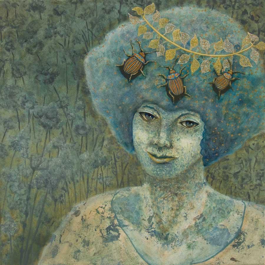 Marianne Dijkstra, 2019, Universal women 3, 50x50 cm, olie op doek