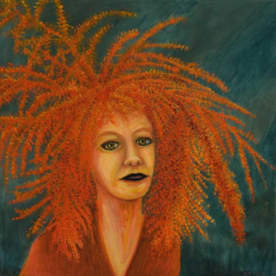 Marianne Dijkstra, 2019, Universal women 6, 40x40 cm, olie op doek