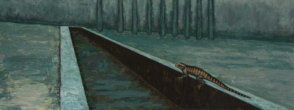 Marianne Dijkstra, 2020, Canal, 60x22,5 cm, acryl op paneel