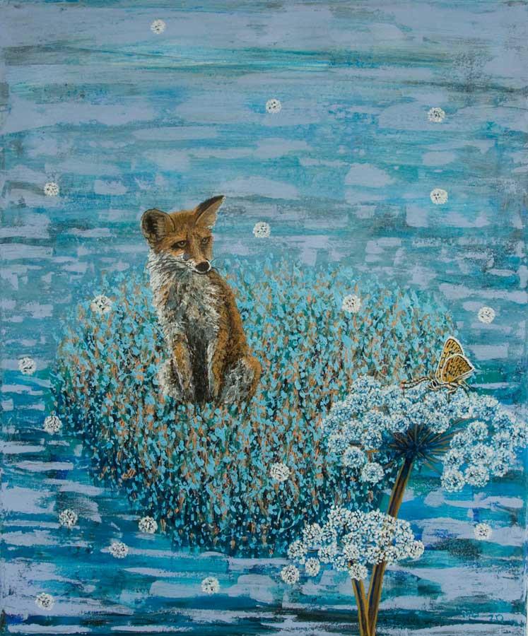 Marianne Dijkstra, 2020, Curiousity, 50x60 cm, acryl op doek