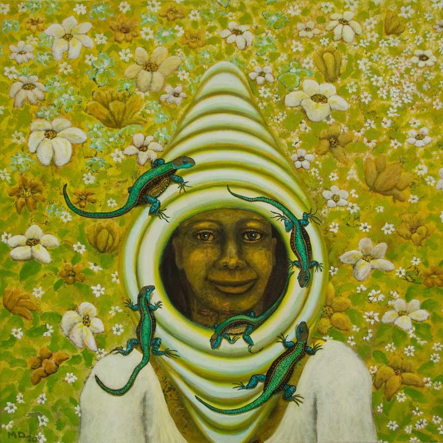 Marianne Dijkstra, 2020, Hospitality, 70x70 cm, olie op doek
