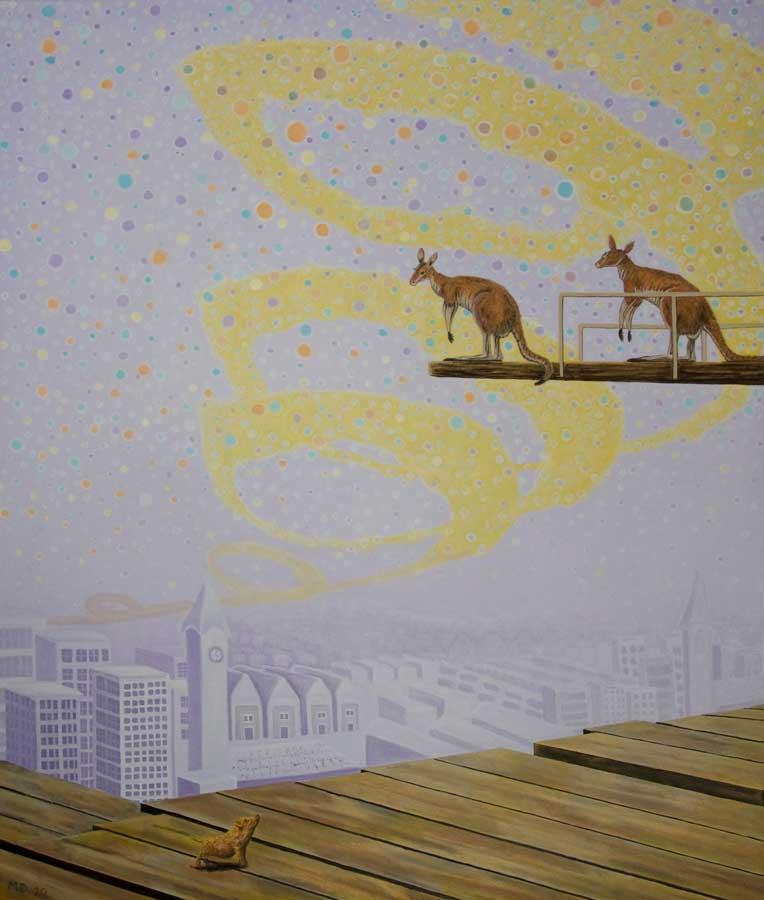 Marianne Dijkstra, 2020, Inspirational air, 100x120 cm, olie op doek