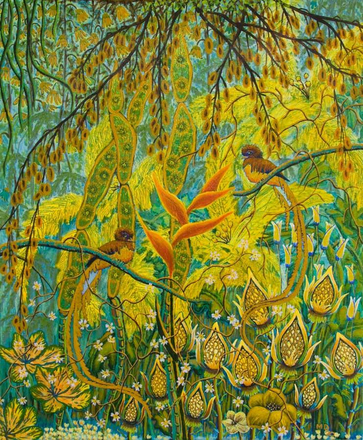 Marianne Dijkstra, 2020, Jungle, 50x60 cm, acryl op doek