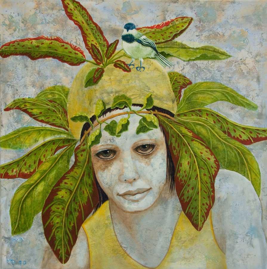 Marianne Dijkstra, 2020, Natural beauty, 70x70 cm, olie op doek