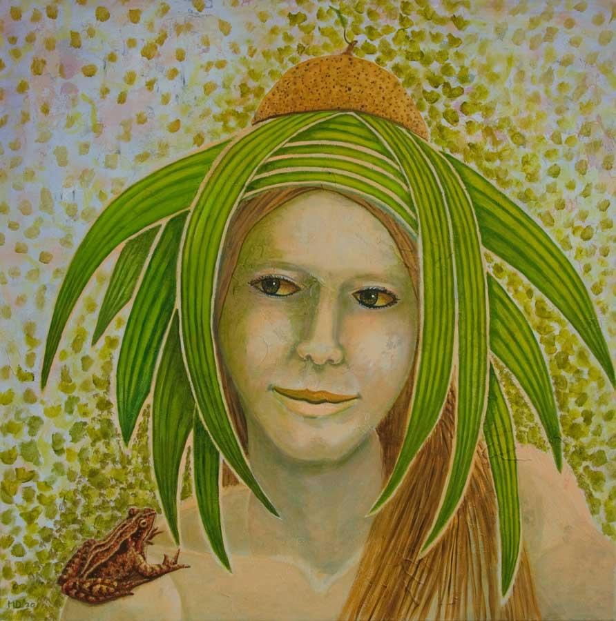 Marianne Dijkstra, 2020, Natural jewels, 70x70 cm, olie op doek