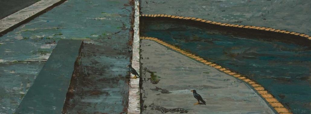Marianne Dijkstra, 2020, Road, 60x22,5 cm, acryl op paneel