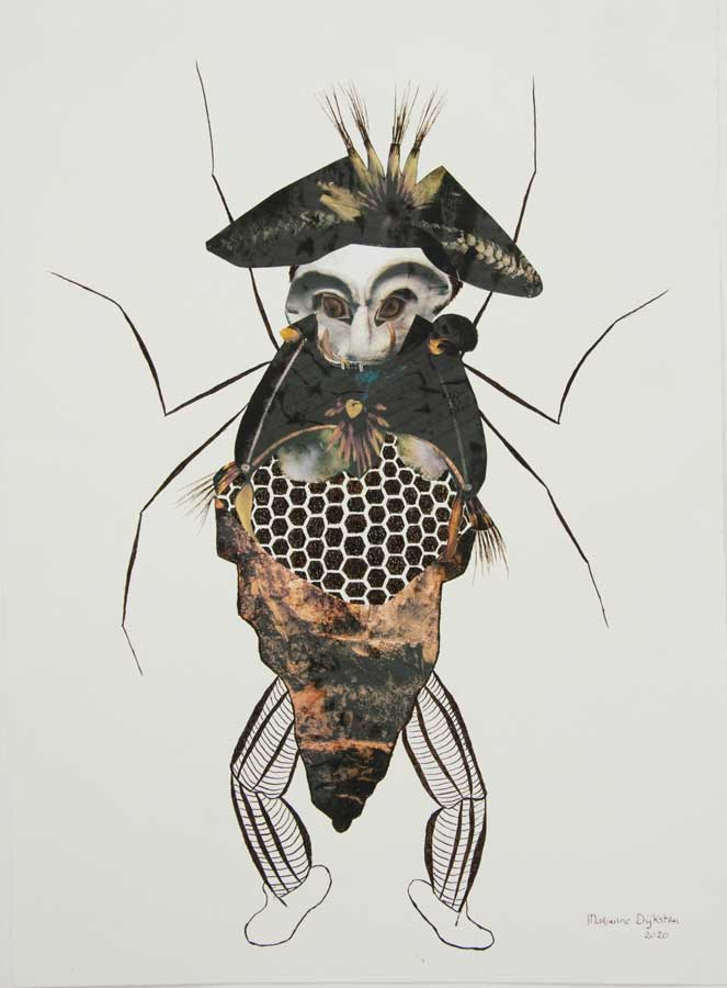 Marianne Dijkstra, 2020, The eye of Argus, 50x60 cm, gemengde techniek